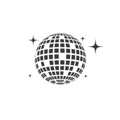 Free Vector Graphics, Vector Icons, Vector Art, Hand And Finger Tattoos, Art Disco, Ball Drawing, Easy Doodle Art, Mirror Ball, Art Sketchbook