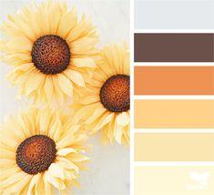 Color Schemes Colour Palettes, Paint Color Schemes, Colour Pallete, Color Combos, Vintage Colour Palette, Design Seeds, Paint Color Pallets, Sunflower Colors, Plakat Design