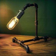lamparas de mesa rustico industrial