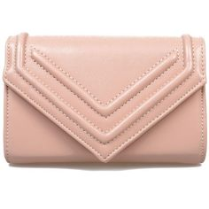 Nude Cross Body Tara Envelope Purse (600 CZK) ❤ liked on Polyvore featuring bags, handbags, clutches, purses, bolsas, accessories, purses crossbody, red clutches, man bag and fold-over clutches