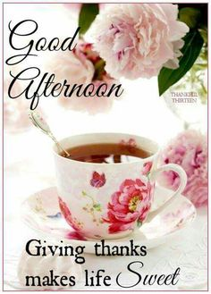 Good Afternoon - Giving thanks...