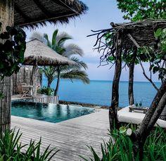 one bedroom ocean view villa deck song saa private island, Cambodia