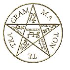 Magic Circles and Sigils ~ Use wisely ~ Sigil of Amon Serpent Star Pentagram of Solomon Hexagram of Solomon Secret Seal. Witch Symbols, Occult Symbols, Magic Symbols, Symbols And Meanings, Viking Symbols, Old Time Religion, Witch Spell Book, Wiccan Jewelry, White Magic