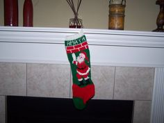 Personalized Hand Knitted Christmas Stocking  Spring by IDoItWell, $60.00