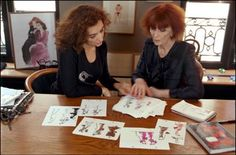 Sonia Rykiel in her Paris studio in 2000 with her daughter Nathalie, left, who took over as managing and artistic director of the label following her mother's illness