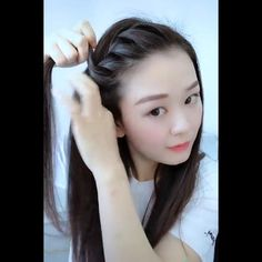 Bun Hairstyles For Long Hair, Cute Hairstyles, Beautiful Hairstyles, Braids Long Hair, Hairstyle For Girls Video, Party Hairstyles For Girls, Quick Braided Hairstyles, Haircuts Straight Hair, Ponytail Hairstyles Tutorial