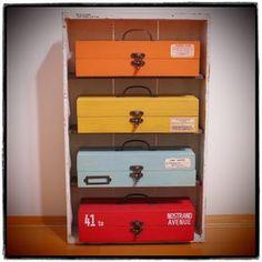 セリアの木箱で作る男前ウッドボックス by Vintageさん