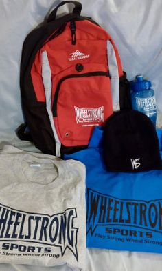 Red Backpack  24 oz Water Bottle Beanie of your choice 2 Shirts of your choice 5 bracelets 2 bumper stickers  SAVING of $35.50!