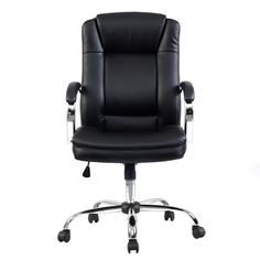 Ergonomic PU Leather High Back Executive Computer Desk Task Office Chair - Chairs - Furniture