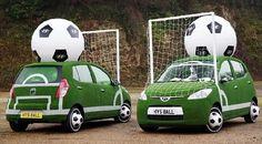Los fabricantes de automóviles asaltan el fútbol. Patrocinios a todo motor