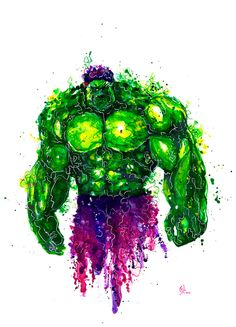 #Hulk #Fan #Art. (Bruce Banner HULK Watercolor Illustration) By: NeoXVl. (To watch how the Hulk was created, simply tap the URL below while in your Browser:  https://www.youtube.com/watch?v=pF5fvKx-qMI P.S. Enjoy all! (THE * 5 * STÅR * ÅWARD * OF: * AW YEAH, IT'S MAJOR ÅWESOMENESS!!!™)[THANK Ü 4 PINNING!!!<·><]<©>ÅÅÅ+(OB4E)