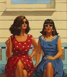 Jack Vettriano - Beach Babes