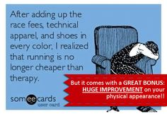 #Running isn't cheaper than therapy. But it comes with the irresistible bonus! Grab it fast!