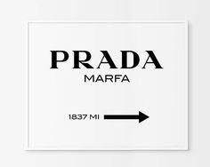 Prada Marfa imprimir Prada Marfa arte Prada Marfa decoración