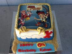 Jack and the Neverland Pirates cake Pirate Birthday, Pirate Party, 4th Birthday, Birthday Parties, Birthday Cakes, Birthday Ideas, Bolo Jake, Happy B Day, Occasion Cakes