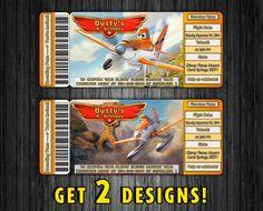 Disney Planes Fire and Rescue  Birthday Invitation by KirovArts