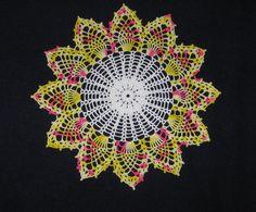 """Crochet Handmade Spring Doily, 11"""""""