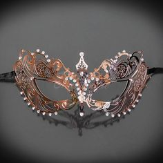 2 Dozen Crown Fancy Dress Masquerade Mardi Party Mask New with Rose
