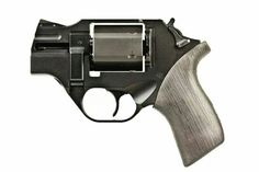 The Chiappa Forearms Rhino is a 6 shot .357 Magnum revolver with the barrel feeding from the bottom rather than the top as in most other revolvers.  The company claims this reduces felt recoil, as the impulse is more in-line with the shooter's hand. I.WANT.IT.