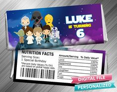 Star Wars Candy Bar Wrapper by kidspartydiy on Etsy