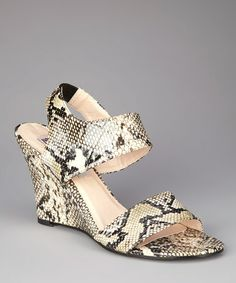 Take a look at this Tan Python Sammy Wedge by donnabella & s.t.e.f.a.n.i. on @zulily today!