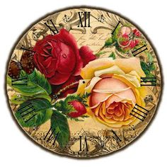 New Arrival Square Diamond Painting Lily Clock Cross Stitch DIY Set Embroidery Rhinestone Home Decor Needlework Floral Theme, Arte Floral, Clock Art, Decoupage Vintage, Cross Stitch Rose, Embroidery Transfers, Art Moderne, Sewing Crafts, Decorative Plates