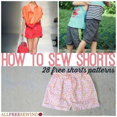How to Sew Shorts: 28 Free Shorts Patterns