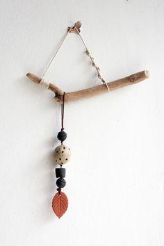 jo lucksted - ceramic bead + driftwood wall hanging no. Ceramic Pendant, Ceramic Clay, Ceramic Beads, Mobiles, Bedroom Minimalist, Organic Ceramics, Sea Crafts, Hanging Mobile, Driftwood Art