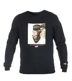 12c8b96ebe4 AKOO Crew sweatshirt Ribbed collar Long sleeve desifn Screen print logo  graphic on front Cotton for comfort Soft inner fleece