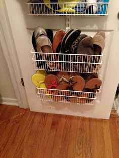 Tip: Hiding the Flats and Sandals... Easy way to store sandals and flats