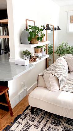Boho Living Room, Boho Room, Room Decor Bedroom, Interior Design Living Room, Bohemian Living, Living Room With Plants, Paint Colors For Living Room, Living Room No Tv, Living Room White Walls