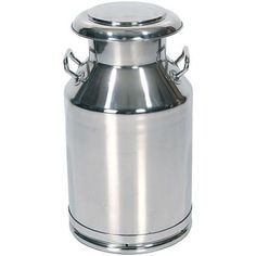 Solid stainless steel       Tight lid with tapered fit and hanging holes in rim       Inside is seamless with no corners for bacteria or rust to form       Shining finish       Solid handles       Made in India