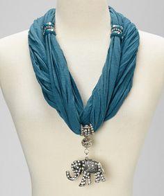 Look what I found on #zulily! Teal Charm Silk-Blend Infinity Scarf by Pretty Angel #zulilyfinds