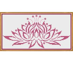 Water Lily - Counted Cross Stitch Pattern (X-Stitch PDF)  Thanks for visiting my store! This cross-stitch pattern was personally and lovingly designed by me! The pattern is shown in dark pink, but you could substitute any colors you like. This is also a good opportunity to try some of the variegated or metallic thread colors. You might also choose to use a non-white fabric as shown in the last image above.  This pattern is available for instant download! Within minutes of your payment, Etsy…