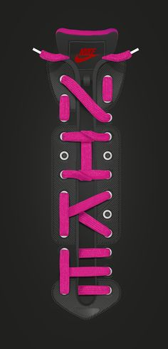 Nike laces lettering by Baimu studio, via Behance