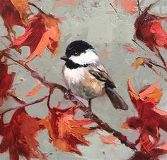 "Daily Paintworks - ""Chickadee"