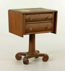 Empire Mahogany Sewing Stand The Estate of Mary L. Alchian of Palm Springs, CA | Kaminski Auctions 1/18/15