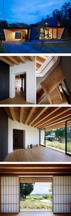 yatsugatake by MDS modular prefab en modus-vivendi arquitectura architecture japan japon casa abanico alpes