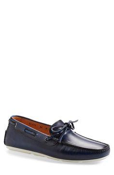Santoni 'Toft' Leather Driving Shoe (Men)