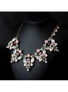 Crystal Stone Mix Necklace