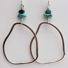 Irregular Hoop Earrings by Nothing Jaded