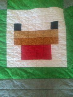 Chicken, by Jennifer Rowles, free Minecraft pattern on fandominstitches.com