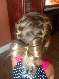 Adorable lil girls hair
