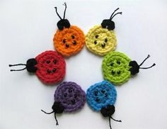 alice brans posted Ladybug Applique - CROCHET PATTERN (PDF) , via Etsy. to their -crochet ideas and tips- postboard via the Juxtapost bookmarklet. Crochet Ladybug, Crochet Fish, Crochet Animals, Crochet Crafts, Yarn Crafts, Crochet Projects, Rainbow Crochet, Appliques Au Crochet, Crochet Motif