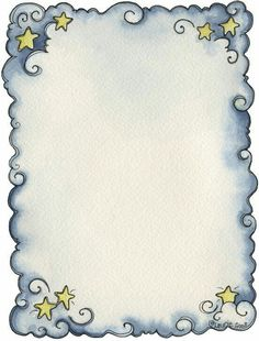 Anjos - Galu - Picasa Web Albums - blue swirls and stars frame Page Borders Design, Border Design, Printable Frames, Printable Paper, Free Printable, Borders For Paper, Borders And Frames, Doodle Borders, Doodle Design