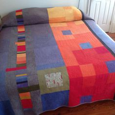 Squares of Color Quilt   Made-to-Order от quiltsbydesign на Etsy