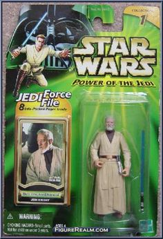 Obi-Wan Kenobi (Jedi Knight) from Star Wars - Power of the Jedi - A New Hope manufactured by Kenner [Front]