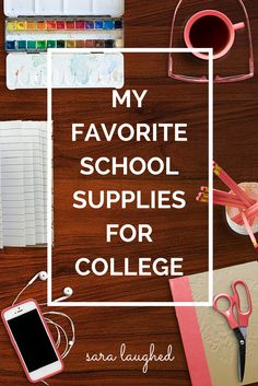 My favorite school supplies for college - a full list of recommended school supplies for college students, plus budget-friendly alternatives!