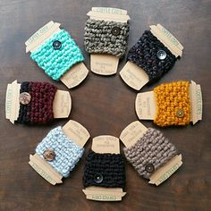 Ravelry: Woven Coffee Cozy pattern by Catherine A. Ross