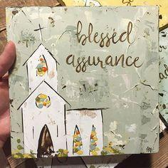 #hymn #blessedassurance #churchart #churchpainting #haleybdesigns #etsyshop